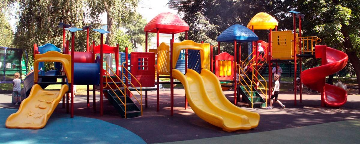 Детские площадки в Екатерининском парке