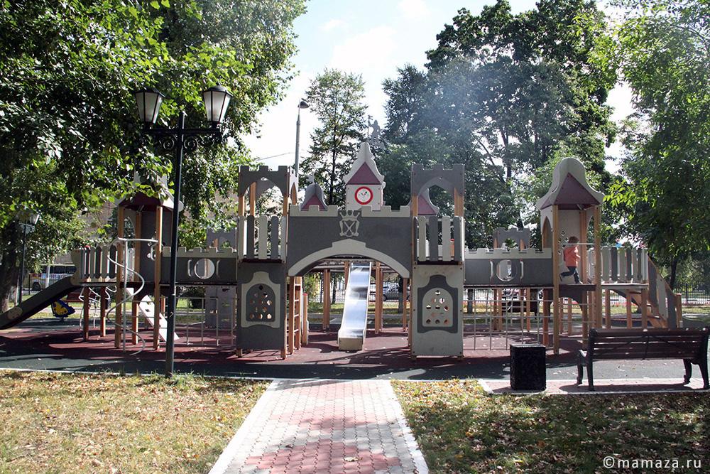 Детские площадки в парке Казачьей Славы